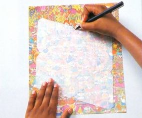 Trace the envelope pattern onto your paper and cut it out.
