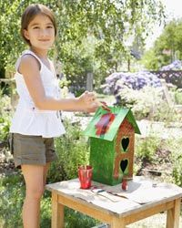 All you need to build a recycled bird house is your imagination and whatever else you can find.