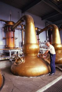 Distillation is really the same process, whether you're working with large or small quantities.