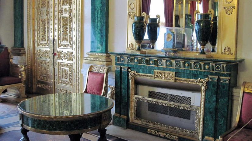 malachite room at the Winter Palace