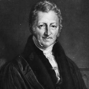 Thomas Malthus, the man who first warned us that the human population is increasing far faster than the food supply can accommodate