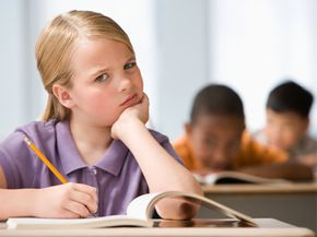 A girl may get uncomfortable if she's the only one in math class.