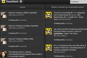TweetDeck is a third-party app (now owned by Twitter) that lets you organize lists, trends and saved searches into separate columns.
