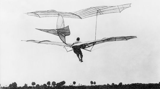 What was man's first attempt to fly?