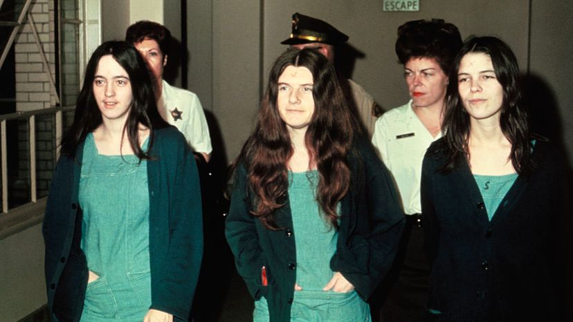 Susan Atkins, Patricia Krenwinkel and Leslie Van Houten Manson family