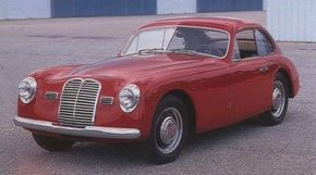 """Though several coachbuilders' work graced Maserati's first roadgoing chassis, this Pinin Farina coupe was the definitive """"production"""" A6I 1500 style, though it didn't appear until the Turin show of 1948."""
