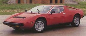 The Maserati Merak shared most of the Maserati Bora's characteristics. Between-lamps air intake marks this as a Merak SS.