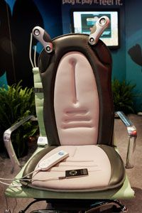 If you can't afford a massage chair, consider a removable cushion with massage and heating elements.
