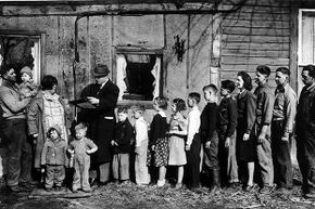 A census agent records a family with 14 children in 1940. The National Archives releases census figures to the public 72 years after they've been taken. The 1940 census is the most recent to be opened.