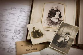 Gather all the old family photos and records you can for your family tree and talk to your relatives about them.