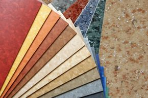 Linoleum was once known for being drab, but now comes in many colors.