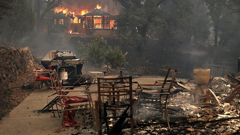 The lucrative wine industry isn't the only thing in jeopardy from the Northern California wildfires. Cannabis farmers in Sonoma County and The Emerald Triangle are losing crops to the fires, as well. Photo by Justin Sullivan/Getty Images