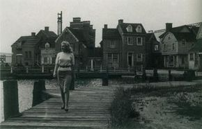 New Twentieth Century-Fox contract player Marilyn Monroe roams the studio backlot. Just 20 years old, she had impressed talent director Ben Lyon with her charm and innocence.
