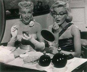 """Pola, the desperately nearsighted character played by Marilyn, declares, """"Men aren't attentive to girls who wear glasses."""" Pola's insistence on leaving her glasses in her handbag provided Marilyn with opportunities to demonstrate her flair for physical comedy."""