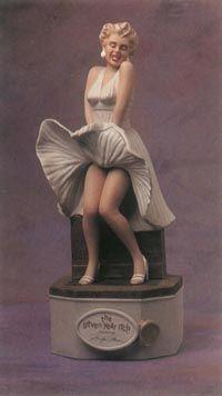 Figurines are a familiar element of the Marilyn Monroe-merchandise phenomenon.