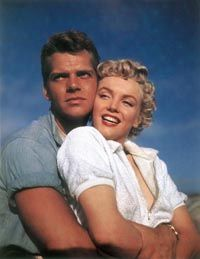 Marilyn's best scenes in Clash by Night were opposite rugged actor Keith Andes. The film was an important career break for both of the young performers.