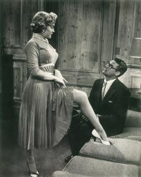 Monkey Business cast Marilyn as a  good-looking but incompetent secretary. Although peripheral to the main action of the plot, Marilyn made the most of her amusing scenes with star Cary Grant.