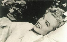 Well-wishers sent flowers as Marilyn recovered from an appendectomy at L.A.'s Cedars of Lebanon Hospital.