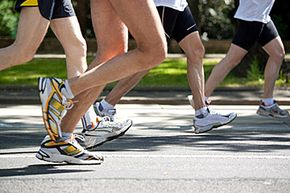 Runners in this marathon receive a disposable chip that automatically records their course progress and finishing time.