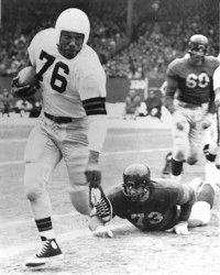 Marion Motley and the Browns                              won consecutive AAFC titles                                            in 1946, 1947, 1948 and 1949.                                            See more pictures of football.