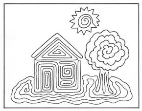 Optical illusion marker drawing.