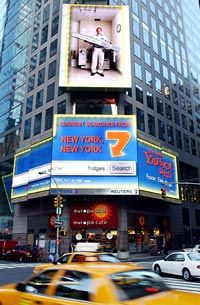 Yahoo! Internet-connected billboard in Times Square
