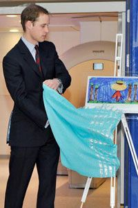 Prince William attends the unveiling of a new scanner facility at a children's hospital.