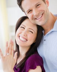 Engagement rings, once symbols of a successful business negotiation, are considered signs of love today.