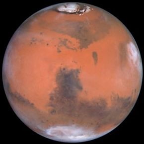 View of Mars from the Hubble Space Telescope