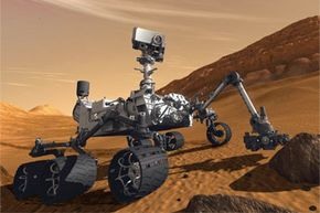 Illustrated here is one of the newest members of the crew roving Mars: Curiosity.