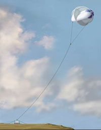 The MARS turbine can reach the higher speed winds available 1,000 feet (305 meters) above ground level.