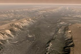 Valles Marineris cuts through the surface of Mars