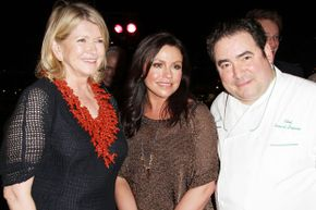 Martha Stewart, Rachael Ray and Emeril Lagasse, pictured together in 2011, all hosted televisions shows that influenced contemporary home cooking.