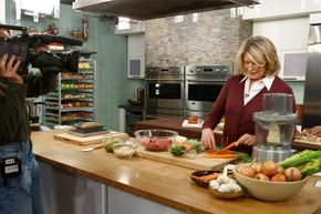 """Martha Stewart cooking on the set of NBC's """"Today"""" show in 2013."""