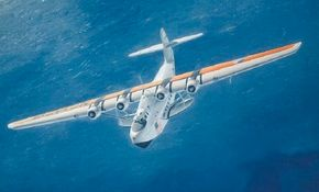 """Perhaps no airplane embodies glamour and sophistication more than the Martin Model 130 China Clipper. Glenn L. Martin insisted that his """"clippers"""" be safe and comfortable. See more classic airplane pictures."""