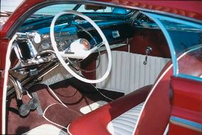 With a chromed dashboard and naugahyde upholstery, the Matranga Mercury's interior was just as impressive as its exterior.