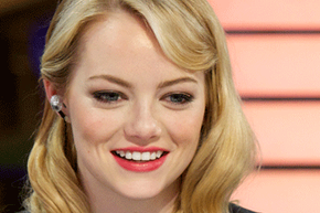 Actress Emma Stone often wears bright, saturated matte colors.