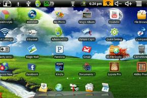 Screenshot from Maylong's M-150 tablet