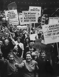 A rally of McCarthy supporters