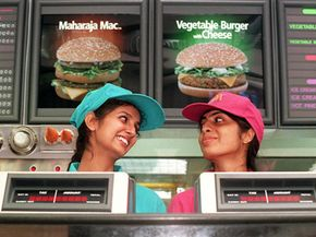When in Rome … McDonald's adapts itself to the palates and religious preferences of the culture they enter. In India, they put out variations of their classics but without beef.