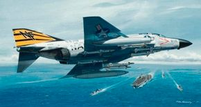 Land- or carrier-based, the McDonnell Douglas F-4 Phantom II flaunted speed, great climb, and altitude capabilities, and a fearsome array of armament. Versatility, too, was a strong point, for the Phantom filled many roles, from dogfighter to ground-attack jet.