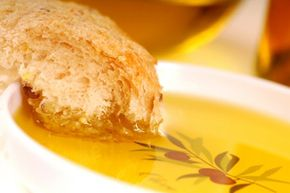 The Mediterranean Diet may be healthy, but nobody can eat tons of bread dipped in olive oil and expect to lose weight. The olive oil is just a small part of a healthy diet, so skip the fast food and enjoy it in moderation.