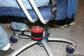 You can place the ButtKicker under any chair if you just want to add vibrations to your gaming experience.