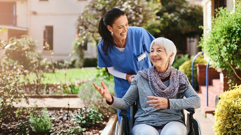 senior lady in wheelchair