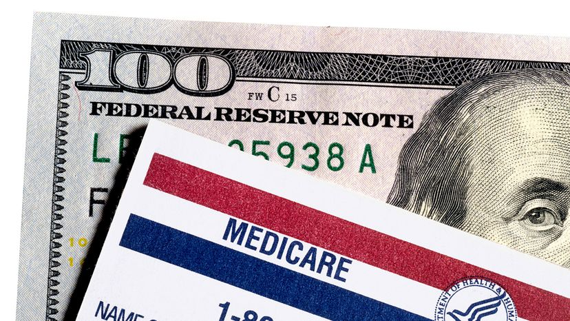 bank note and medicare card