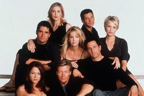 """The cast of the seventh season of """"Melrose Place,"""" a show spun off from """"Beverly Hills, 90210."""""""