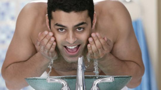 Should men wash their faces with soap?