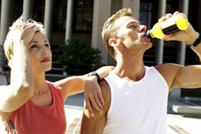 Because men sweat more than women, only the man needs electrolytes to replenish what he lost from exercising. View more men's health pictures.