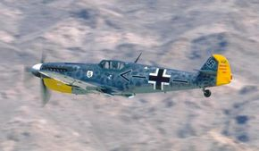 The Messerschmitt Bf 109 was designed on the principle that later defined muscle cars: small frame, enormous powerplant. The formula worked for this, perhaps the finest of all World War II fighter planes.