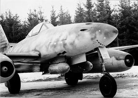 The Messerschmitt Me 262's dramatic swept wings were mandated when engineers discovered that the weight of the engine pods threw off the plane's center of gravity; the wing sweep restored equilibrium.